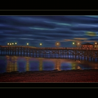 Pier, Nighttime, Beach