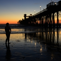 Sunset, Pier