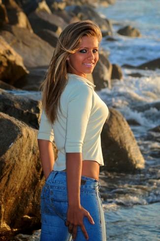 Senior, Beach, Waves