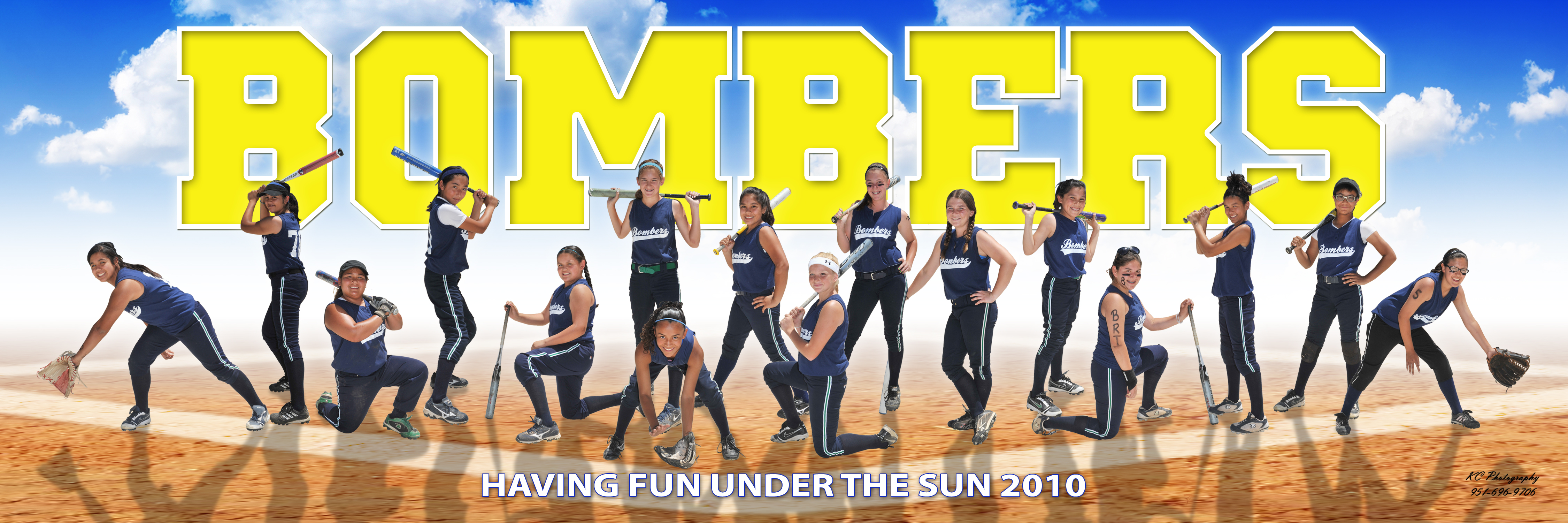 Bombers Softball Pano