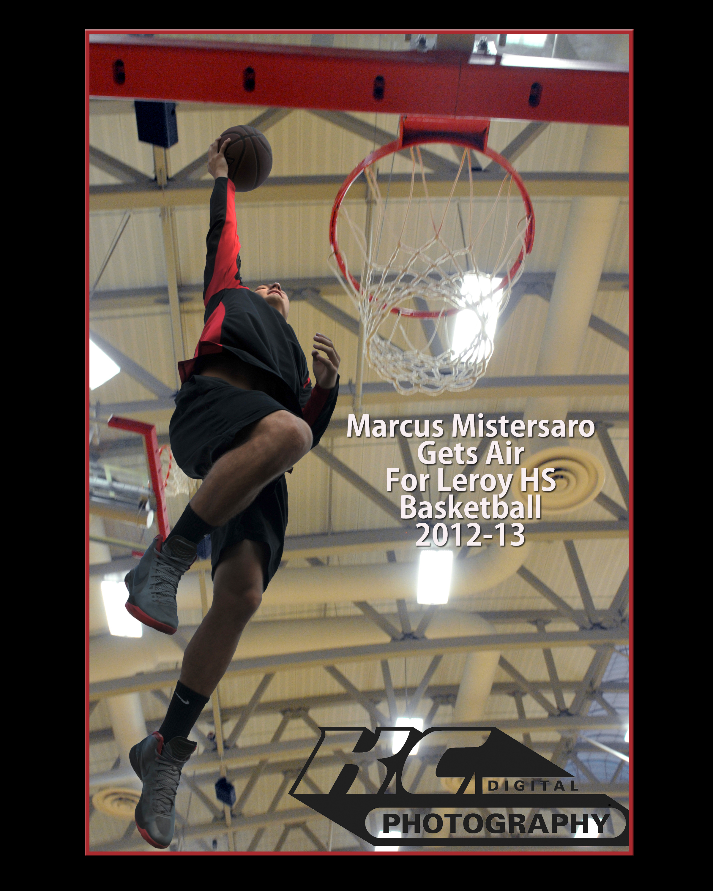 Basketball Action Shot Magazine Cover